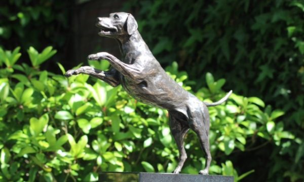 Een bronzen beeld van uw huisdier