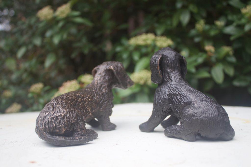 Kleine hondjes van brons, wat een mooi geschenk